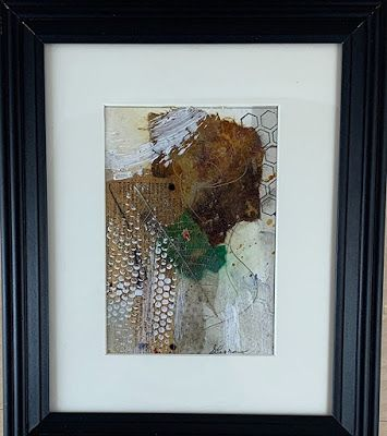 """Abstract Art, Mixed Media, Contemporary Painting, """"What News?"""" by Texas Contemporary Artist Sharon Whisnand"""