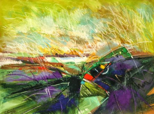 Chartreuse Sunset, by Carol Engles
