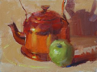 """Copper Kettle and Green Apple"""