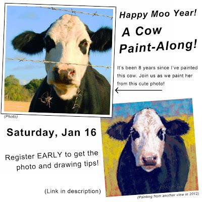 Happy Moo Year Cow Paint-Along!