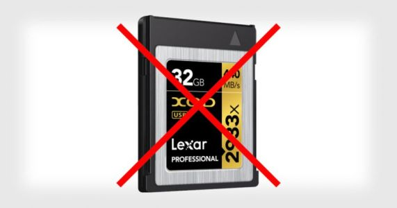 Lexar Quits XQD Cards, Accuses Sony of Preventing Progress