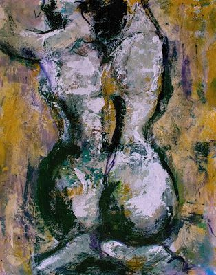 """Gestures Study VIII - Original Acrylic Figurative Painting by Arizona Artist, Sharon Sieben"