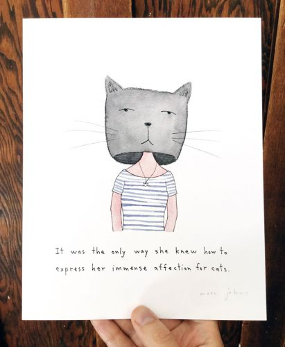Immense affection for cats - print