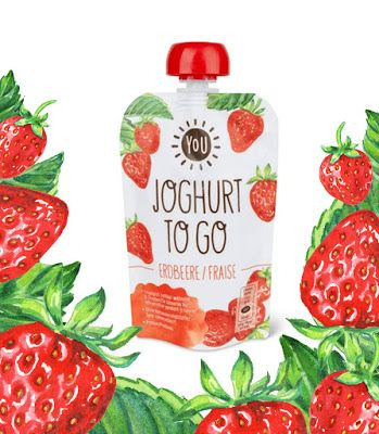 Watercolour Strawberry For Packaging Desing