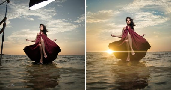 This Sunset 'Levitation' Photo Was Captured in a Single Shot