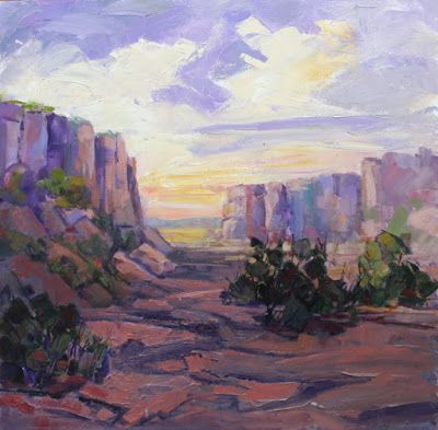"""Impressionist Landscape, Mountain Landscape, Trees, Fine Art Oil Painting """"Locked in Time"""" by Colorado Contemporary Fine Artist Jody Ahrens"""