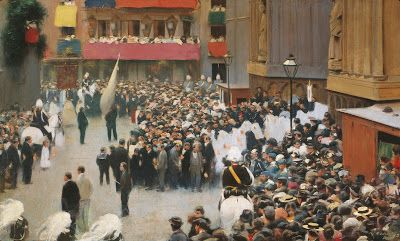 The Corpus Christi Procession by Ramon Casas