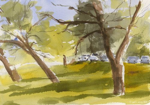 First Painting of the En Plein Aire Season