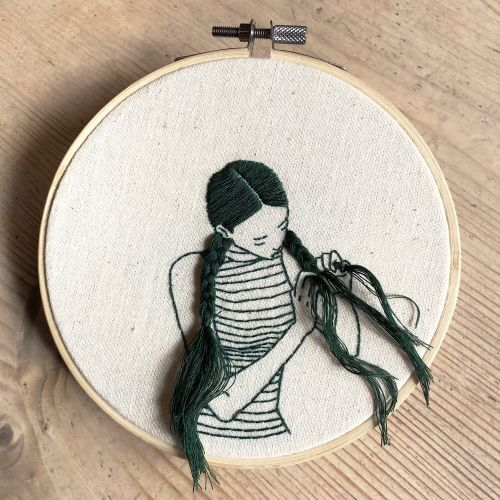 Hand-Sewn Portraits by Sheena Liam Capture Quiet Moments of Self Care
