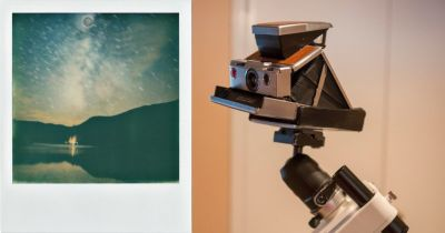 Capturing Beautiful Photos of the Milky Way. with a Polaroid SX-70