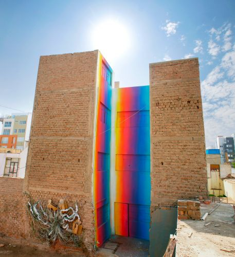 New Prismatic Murals by Xomatok Cover the Streets of Lima With Bursts of Color