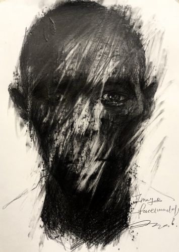 Solemn Faces Emerge from Hazy Portraits by Artist GyoBeom An