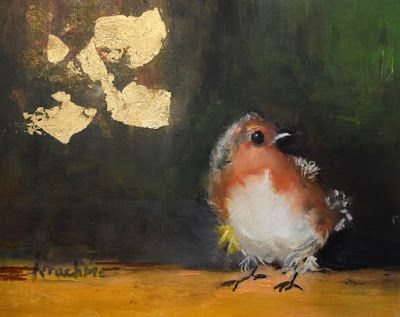 "Bird Painting, Contemporary Art ""Wild Citizen II"" by International Contemporary Abstract Artist Arrachme"