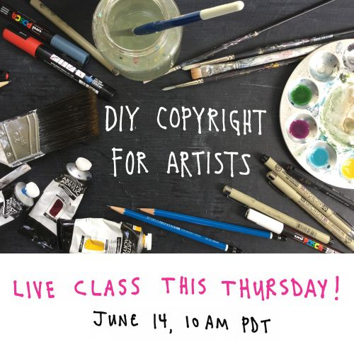 Reminder: DIY Copyright for Artists this Thursday