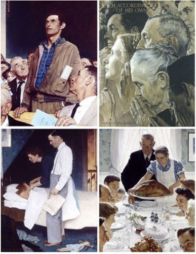 Norman Rockwell. He portrayed our idealism and our flaws