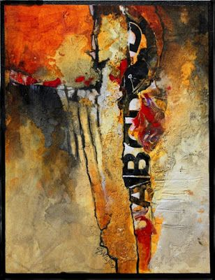 """Contemporary Abstract Fine Art Print """"Don't Think Twice"""" by Carol Nelson Fine Art"""