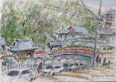 59th World Wide SketchCrawl at Okcheonam Temple