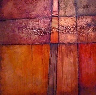 """Abstract Mixed Media Art Painting """"Crossroads"""" by Colorado Mixed Media Abstract Artist Carol Nelson"""