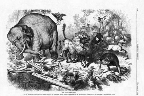 The first Republican elephant
