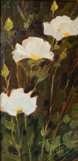 """Three Poppies"" plein air poppy painting by Robin Weiss. Also upcoming events"