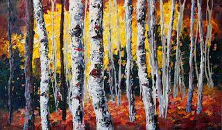 """Fall Jamboree"" Palette Knife Painting by Niki Gulley"