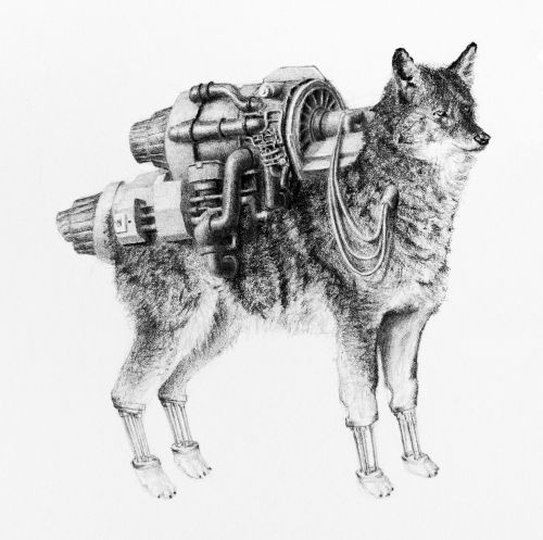 Hybrid Graphite Drawings by Mateo Pizarro Merge Animals and Humans with Unexpected Obstacles