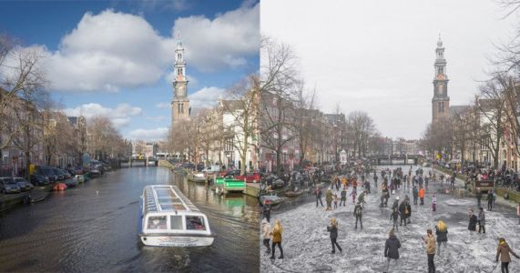 See the Netherlands' Historically Cold Winter in Before-and-After Photos