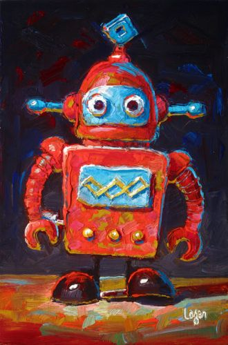 Wind Up Robot Red