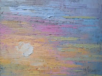 Pastel Days, Small Abstract Painting, Palette Knife Painting, Small Oil Painting, Daily Painting 8x10x1.5