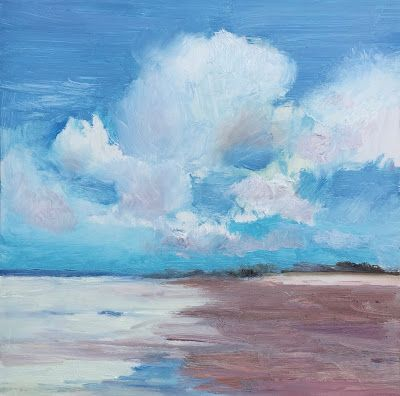 """Contemporary Beach Landscape, """"Cloud Shimmer,"""" by Amy Whitehouse"""
