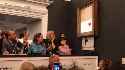 Banksy Painting Spontaneously Shreds Itself Moments After Selling for $1.3 Million at Sotheby's