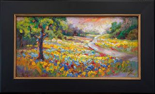 """""""Waves of Wildflowers IV"""" Palette Knife Oil Painting by Niki Gulley"""