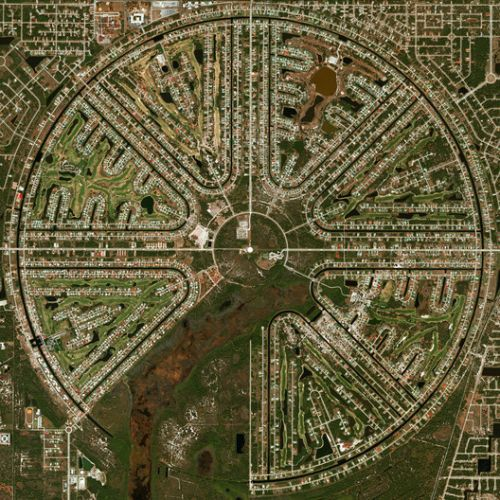 Radial City Plan: Nine Examples Around the World Seen From Above