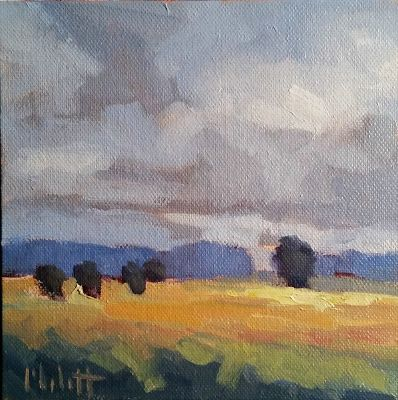 Landscape Art Original Daily Painting Heidi Malott Autumn Winds