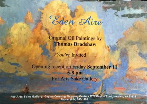 """""""Eden Aire"""" exhibit plus wine country. This weekend!"""