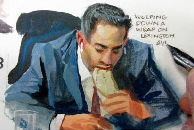 Painting People While They Eat