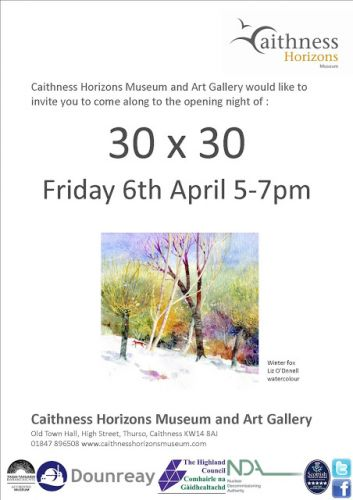 30 x 30 Exhibition at Caithness Horizons