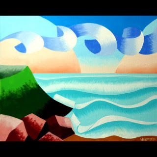 Mark Webster - Abstract Ocean Coast Landscape Oil Painting