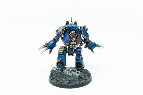 Showcase: Horus Heresy Night Lords Contemptor Dreadnought by Silvernome
