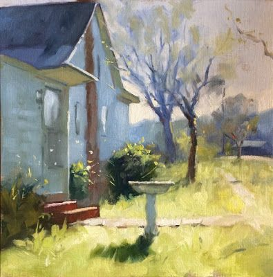 White House, after Colley Whisson. 12in x 12in oil