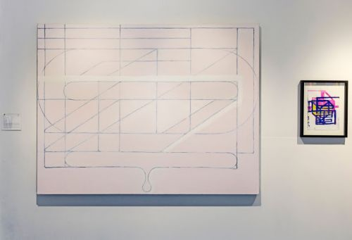 """My work in """"Constructed: Beverly Fishman, Marilyn Lerner, Paul Pagk, Joanna Pousette-Dart, and Cary Smith,"""" curated by Barry A Rosenberg Contemporary Art Galleries, University of Connecticut, Storrs, CT"""