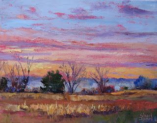 Brilliant Gold Designs, Contemporary Landscape Painting by Sheri Jones