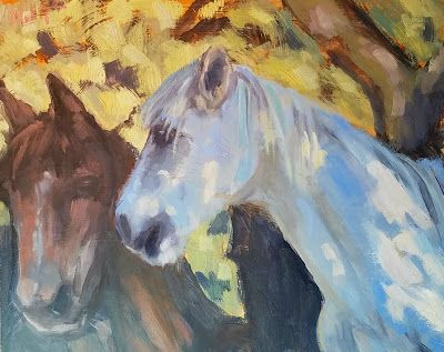 Horse Art 25% off all Paintings Studio Special Heidi Malott