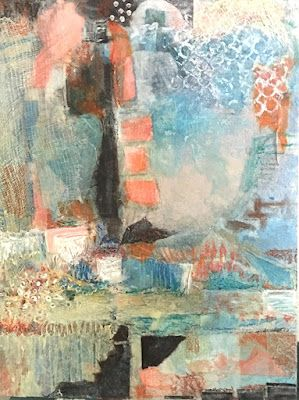 """Abstract Painting, Contemporary Art, """"DREAMS OF OUT THERE"""" by Virginia Contemporary Artist Lou Jordan"""