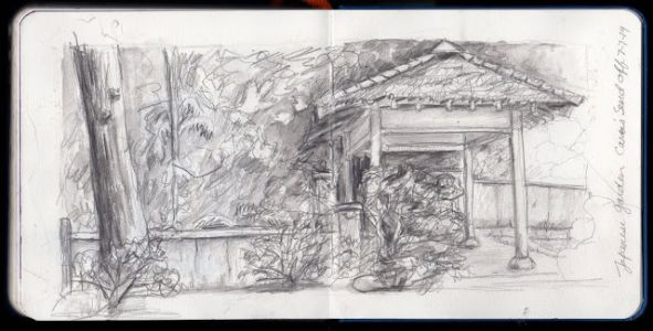 Japanese Garden Sketching Send off for Cara