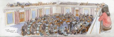 Sketches from the Impeachment Trial
