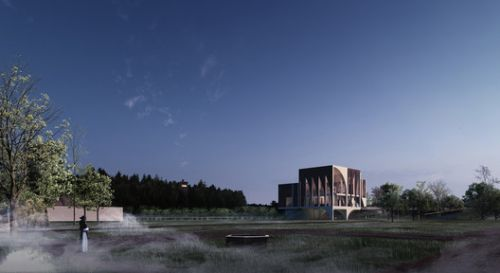 The Øm Museum Juxtaposes Archaeological Ruins With A Modern Interpretation of Medieval Monastic Architecture