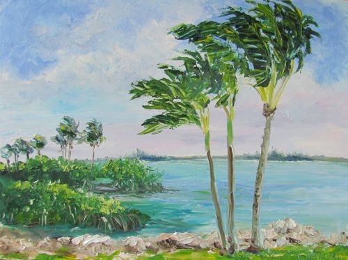 1760 SOLD Indian River Breezes Plein air alla prima