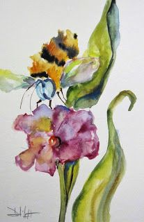 Purple Flower and Bee