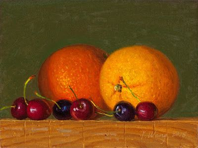 Orange cherries painting a day